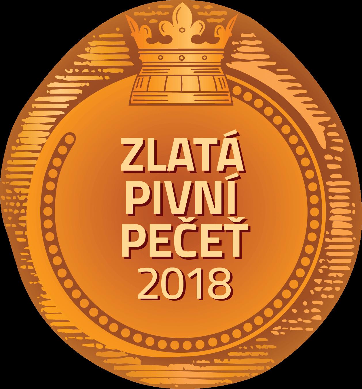 Zlatá pivní pečeť 1. místo - 2018